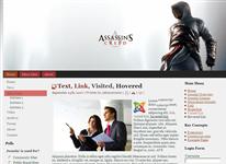 Шаблон Assassin's Creed