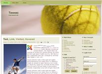 Шаблон - Большой теннис