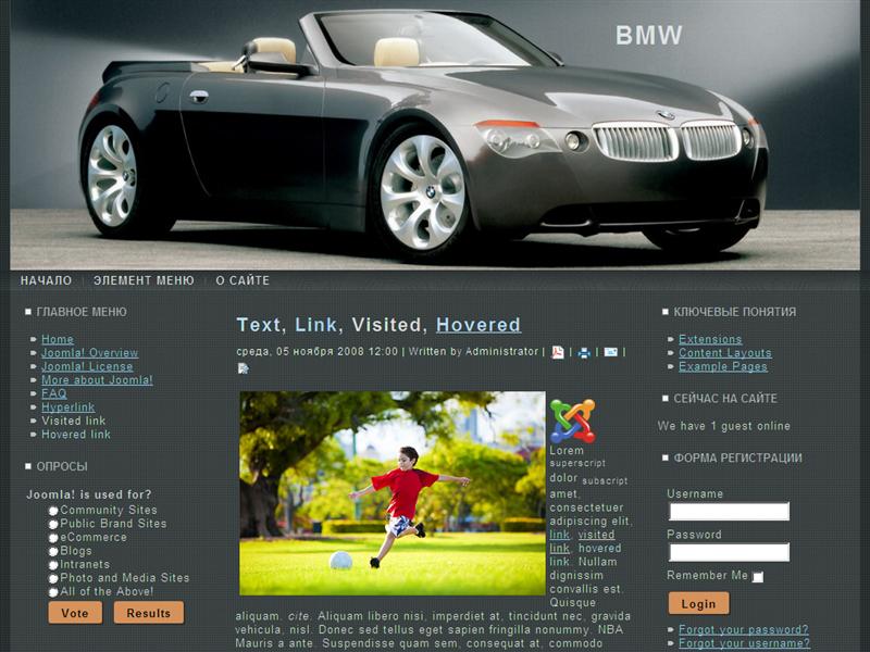 Шаблон Автомобиль BMW