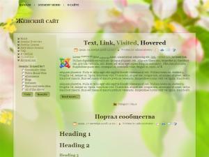 Шаблон женского блога